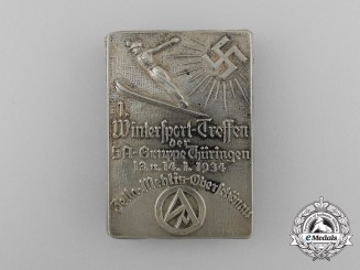 A 1934 Wintersport Festival of the SA Group Thüringen Badge