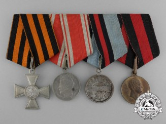 A Russian Imperial Group of Four Medal Bar