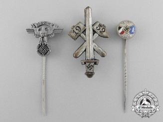 A Lot of Three Second War German Badges and Stick Pins