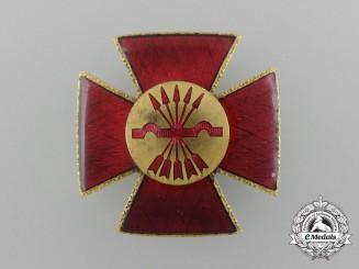 A Spanish Civil War Falange Nurse's Red Cross Badge circa 1930's