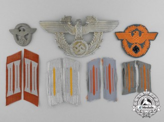 A Fine Grouping of Third Reich German Gendarmerie Insignia