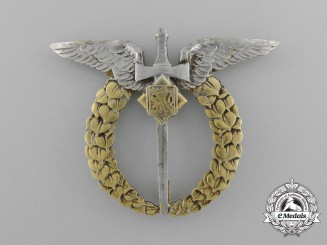 Czechoslovakia. An Air Force Air Observer Badge, c.1942