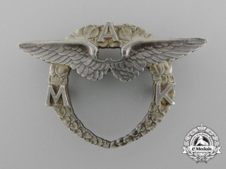 A Czech Moravian Aero Club Badge circa 1920's