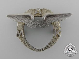 Czechoslovakia. A Moravian Aero Club Badge, c.1925