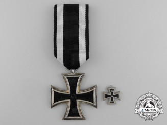 An Iron Cross 1914 Second Class by the Königliches Münzamt of Berlin with Miniature