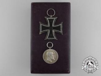 A German First World War Pair with Case