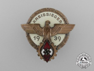 A 1938 Victor's Badge in the National Trade Competition by Hermann Aurich