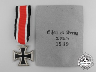 An Iron Cross 1939 Second Class with Original Packet of Issue; Non-Magnetic Type