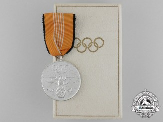 A Mint 1936 Berlin Olympics Civil Decoration for Administrators of the Olympic Games in its Case of Issue