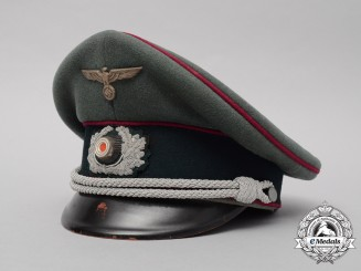 A Scarce Nebelwerfer/Rocket Troop Officer's Visor Cap/Schrimmütze