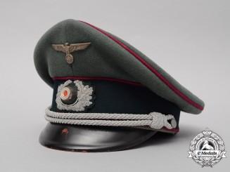 A Scarce Nebelwerfer/Rocket Troop Officer's Visor Cap/Schrimmütze