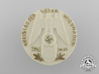 A 1939 NSDAP Wiesbaden District Day Badge by Richard Sieper & Söhne