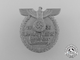 A 1938 NSDAP Biedenkopf-Dillenburg District Council Day Badge by Richard Sieper & Söhne