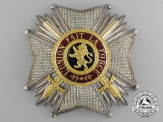 A Superb Belgian Order of Leopold I, Grand Officer's Breast Star