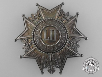 Tuscany, Italian State. An Order of Civil Merit, Grand Cross Star, by C.F.Rothe