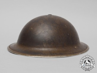 A Second War Mark II Canadian Brodie Helmet