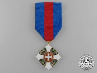 An Italian WW1 Period  Military Order of Savoy, 5th Class