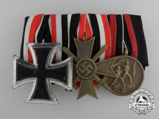 A German Sudetenland Medal Bar With Three Medals, Awards, and Decorations