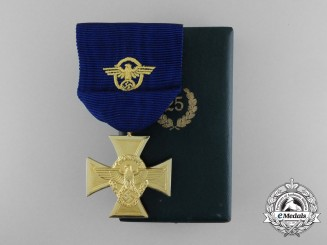 A German Long Service Cross 1st Class for 25-Years of Service; In Original case of Issue