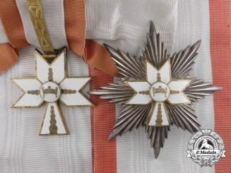 A Croatian Order of King Zvonimir; Grand Cross Set by Braca Knaus, Zagreb