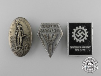 A lot of Three Third Reich Period Badges