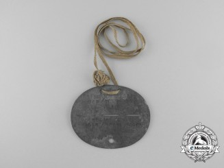 A First War German Army Identification Tag