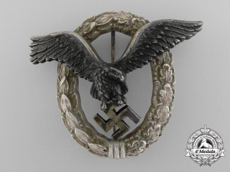 A Luftwaffe Pilot's Badge by C.E. Juncker