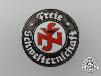 "A National Socialist People's Welfare ""Free Sisterhood"" Hospital Aid Badge by Ferdinand Hoffstätter"
