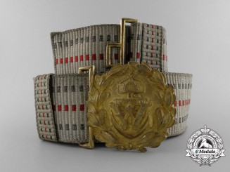 A Imperial German Navy (Kaiserliche Marine) Officer's Brocade Parade Belt