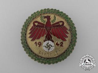 A 1942 Tirol Shooting Competition Pistol Marksmanship Award by Carl Poellath