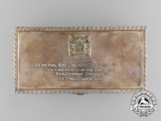 A Cigarette Box Presented to Lieutenant-General Guy Granville Simonds Upon His Visit to Stratford, Ontario 1954