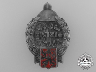 A 1st Czechoslovakia Italian Divisions Badge 1945