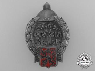 Czechoslovakia. A 1st Italian Divisions Badge, c.1945