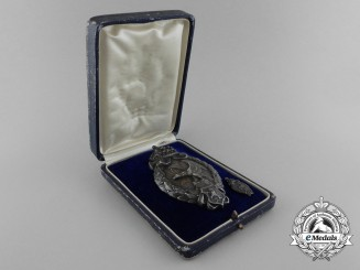 A Rare Cased First War Bulgarian Air Force Observer's Badge; Type I