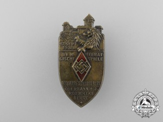 Germany. A 1933 HJ Mountain Hometown Competition Badge