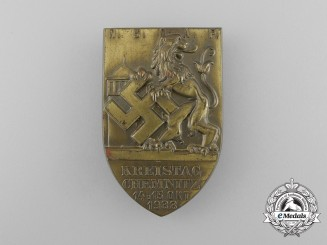 Germany, Third Reich. A 1933 Chemnitz District Council Day Badge