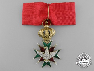 A Fine Saxe-Weimar Order of the White Falcon; Commander's Cross in Gold