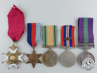 A Second War Most Honourable Order of the Bath & MID Group to Major-General Geoffrey Palmer