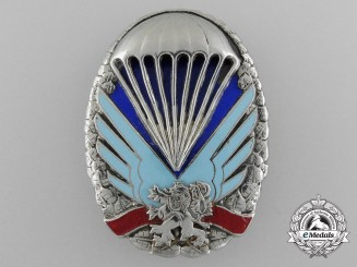 A Rare Czech Parachutist Badge
