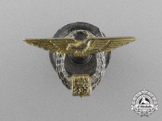 Czechoslovakia. A Flight School in England Graduate's Miniature Badge, c.1943