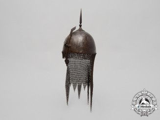 A Fine 18th Century Islamic Indo-Persian Nobleman Kulah-Khud Helmet
