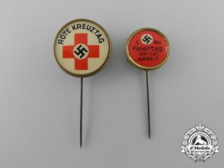 A Lot of Two Third Reich Period Stickpins