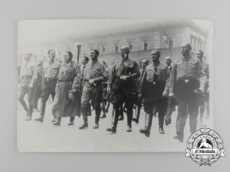 An Early Period Photograph of the Beer Hall Putsch