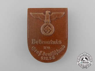 "A 1938 ""Avowal to Greater Germany"" Event Badge"