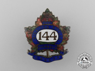 A First War 144th Infantry Battalion Sweetheart Badge