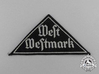 A Mint Third Reich Period HJ/DJ West-Westmark Sleeve Patch; RZM Tagged