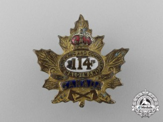 "A First War Infantry Battalion ""Brock's Rangers"" Sweetheart Badge"