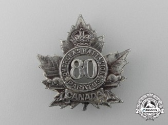 A First War 80th Infantry Battalion Sweetheart Badge