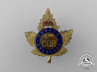 A First War 2nd Central Ontario Regimental Depot Sweetheart Badge