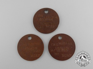 Three Second War Royal Canadian Air Force (RCAF) Identification Tags